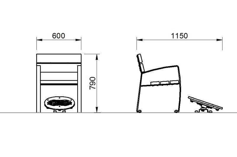 Plac zabaw Zestaw ławka z ruchomą platformą zawierającą labirynt 2 Play Park