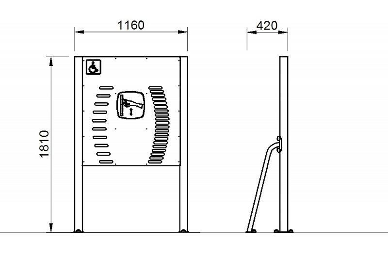 Plac zabaw Tablica z drabinkami - wersja dla osób na wózkach PLAY-PARK