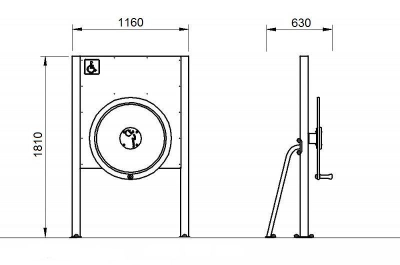 Plac zabaw Tablica z kołem - wersja dla osób na wózkach PLAY-PARK