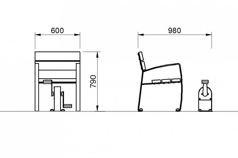 Plac zabaw Zestaw ławka z rowerkiem PLAY-PARK