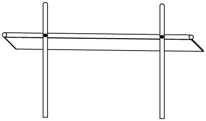 Plac zabaw Rynna z odpływem bocznym 1,6 m PLAY-PARK