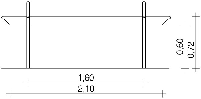 Plac zabaw Rynna z odpływem dolnym 2,1 m PLAY-PARK