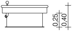Plac zabaw Kwadratowy stół wodny 0,25 m PLAY-PARK
