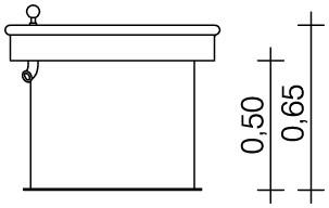 Plac zabaw Kwadratowy stół wodny 0,50 m PLAY-PARK