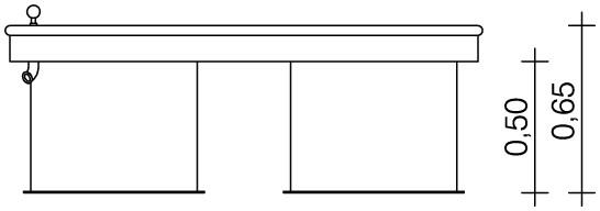 Plac zabaw Prostokątny stół wodny 0,50 m PLAY-PARK