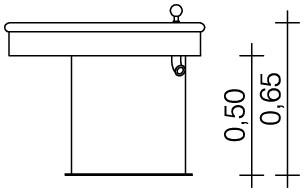 Plac zabaw Trójkątny stół wodny 0,5 m PLAY-PARK