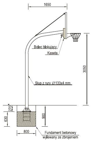 Plac zabaw Kosz do koszykówki PLAY-PARK
