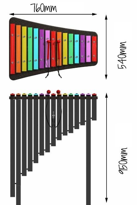 Plac zabaw Instrument muzyczny Acapello Play Park