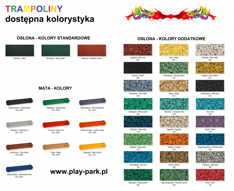 Plac zabaw Trampolina 3 x S  Play Park