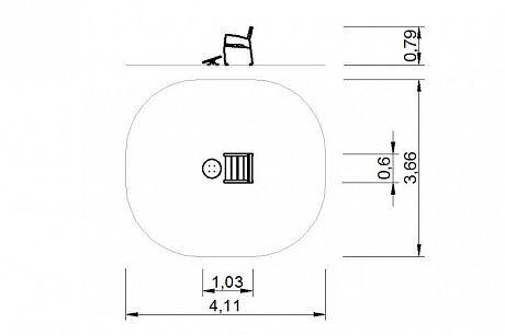 Plac zabaw Zestaw ławka z ruchomą platformą 1 PLAY-PARK