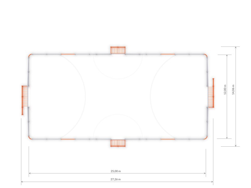 Plac zabaw ARENA 4a (25x12m) PLAY-PARK