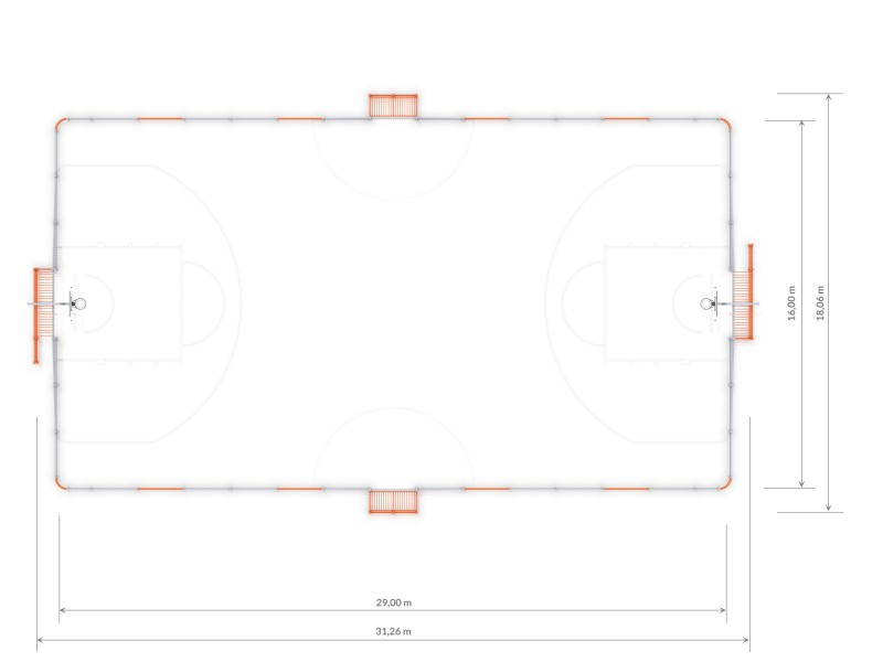 Plac zabaw ARENA 5 (29x16m) PLAY-PARK