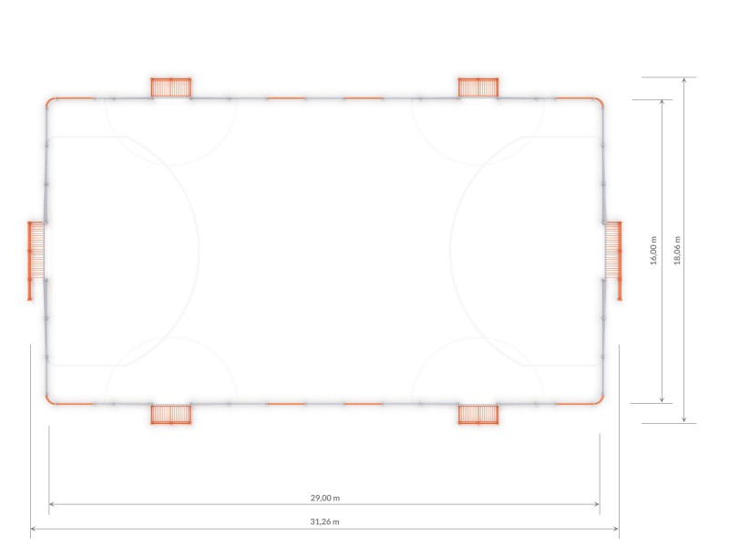 Plac zabaw ARENA 5c (29x16m) PLAY-PARK