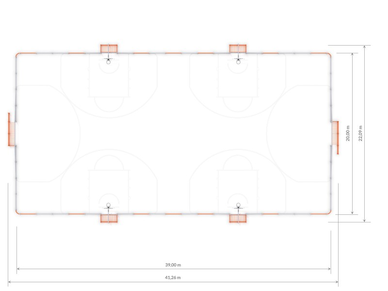Plac zabaw ARENA 6a (39x20m) PLAY-PARK