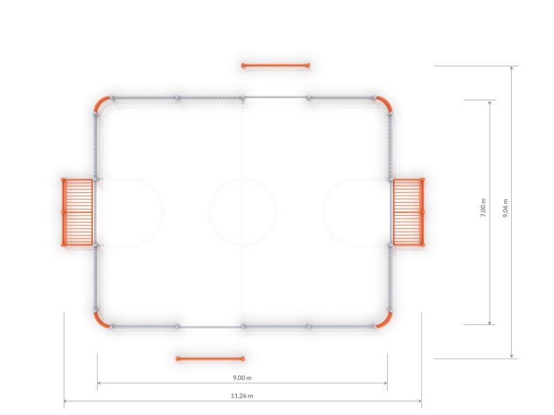 Plac zabaw SOCCER RING 3 (9x7m) PLAY-PARK