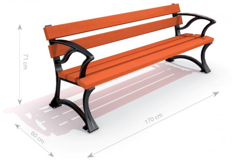 Plac zabaw Ławka żeliwna 1 PLAY-PARK
