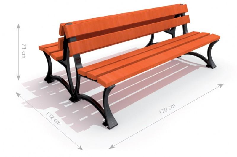 Plac zabaw Ławka żeliwna 4 PLAY-PARK