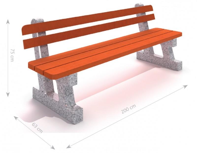 Plac zabaw Ławka betonowa 1 PLAY-PARK