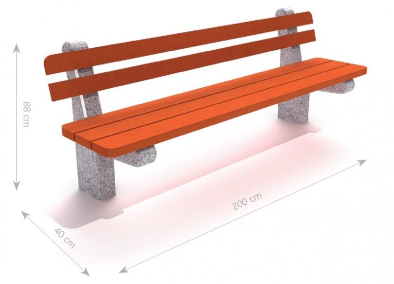 Plac zabaw Ławka betonowa 2 PLAY-PARK
