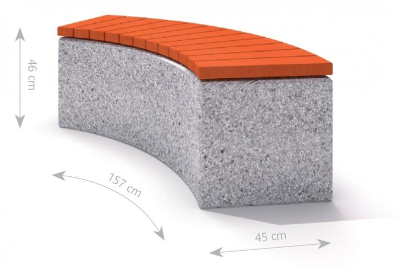 Plac zabaw Ławka betonowa 3 PLAY-PARK