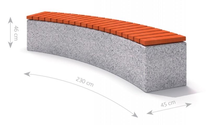 Plac zabaw Ławka betonowa 4 PLAY-PARK