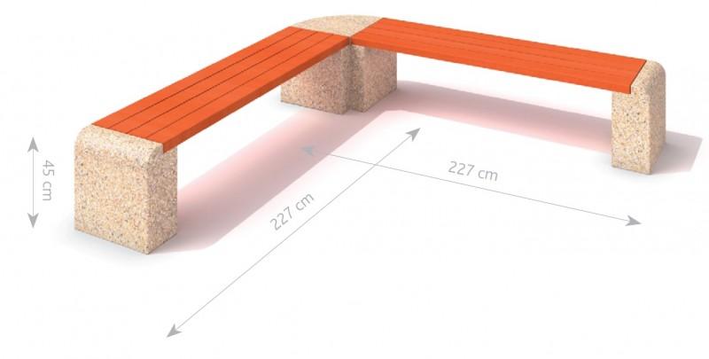 Plac zabaw Ławka betonowa 7 PLAY-PARK