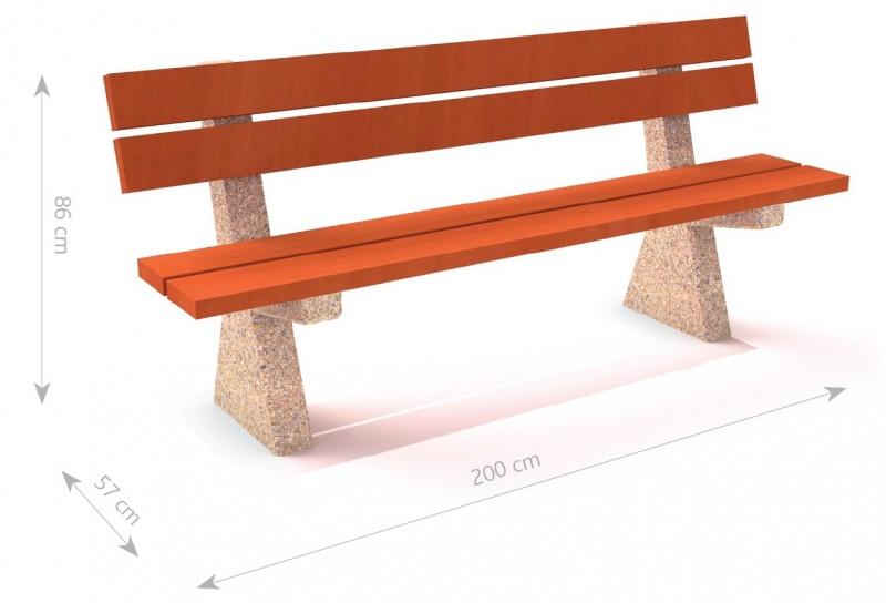 Plac zabaw Ławka betonowa 9 PLAY-PARK