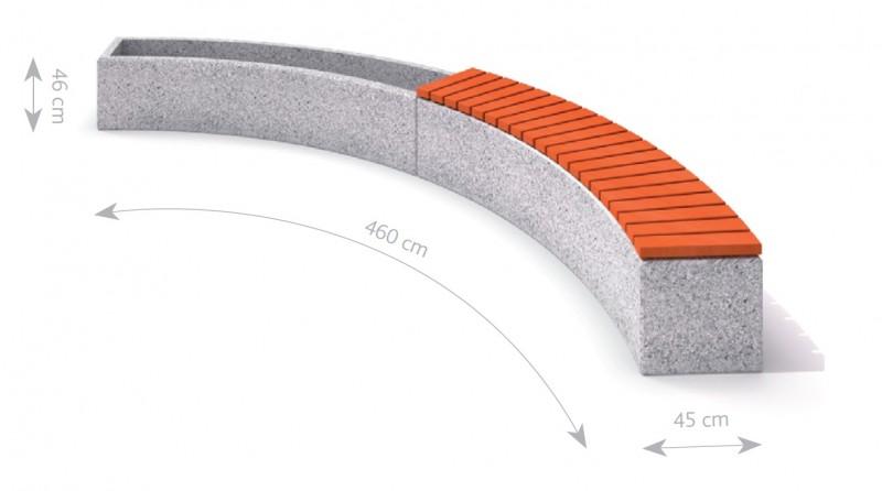 Plac zabaw Donica betonowa zestaw z ławką 04 PLAY-PARK