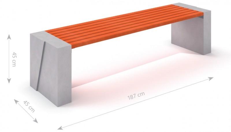 Plac zabaw Ławka betonowa DECO 10 PLAY-PARK
