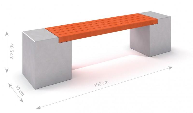 Plac zabaw Ławka betonowa DECO 11 PLAY-PARK