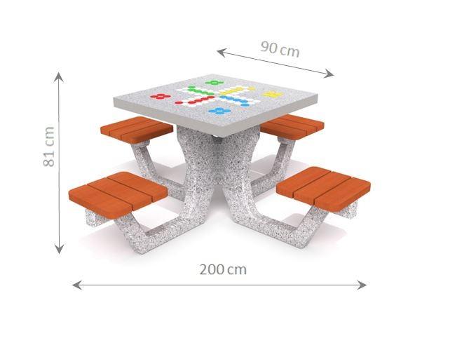 Plac zabaw Betonowy stół do gry w chińczyka 01 PLAY-PARK
