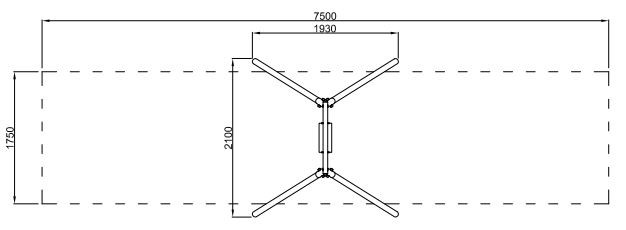Plac zabaw Huśtawka wahadłowa Crocus 3 PLAY-PARK