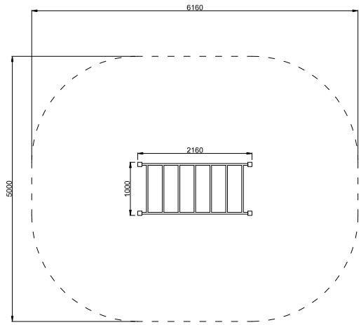 Plac zabaw Drabinka pozioma 1 PLAY-PARK