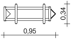 Plac zabaw Rynna z odpływem bocznym 0,8 m PLAY-PARK