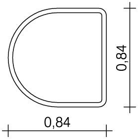 Plac zabaw Stół wodny Półkole 0,50 m PLAY-PARK