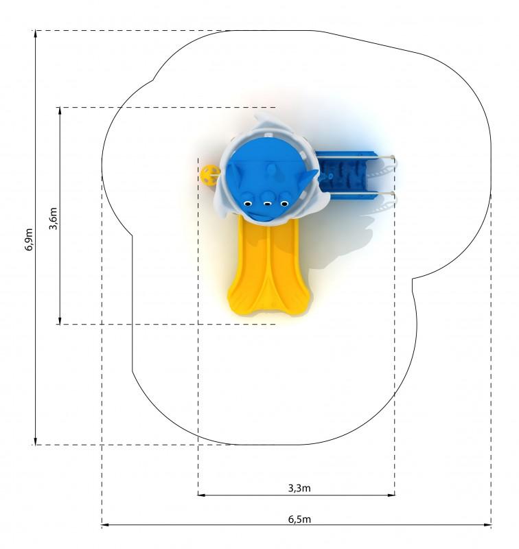 Plac zabaw Zestaw Cosmos 3 PLAY-PARK