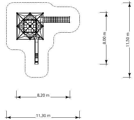 Plac zabaw Monte Bianco 4 Triangulum PLAY-PARK