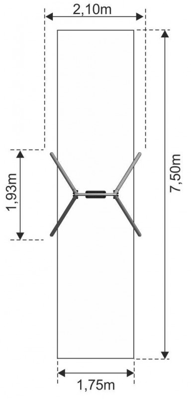 Plac zabaw Huśtawka wahadłowa Crocus 1 PLAY-PARK