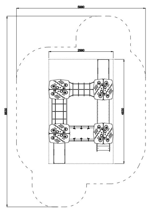 Plac zabaw Piro 4-1 PLAY-PARK