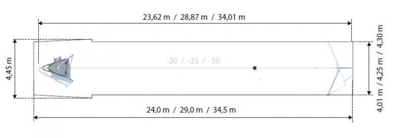 Plac zabaw Zjazd linowy Aspen 25 m PLAY-PARK