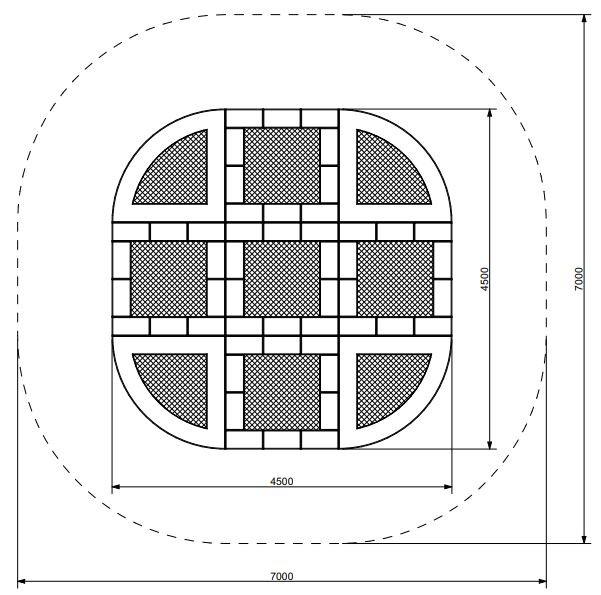 Plac zabaw Trampolina Tuto 12 PLAY-PARK