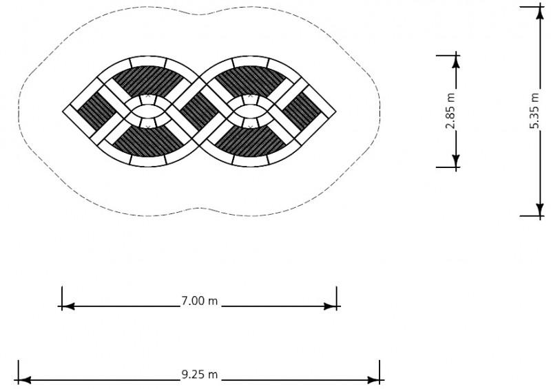 Plac zabaw Trampolina Crossover  PLAY-PARK