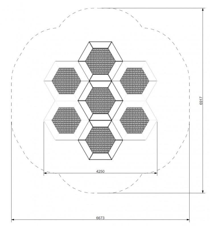Plac zabaw Trampolina Hexo 7A PLAY-PARK