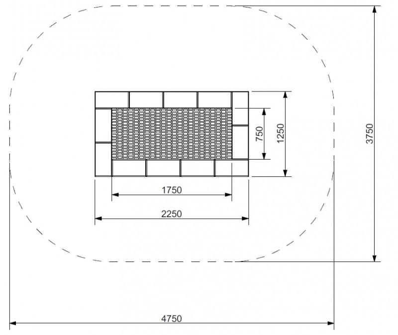 Plac zabaw Trampolina Orta 125 x 225 PLAY-PARK