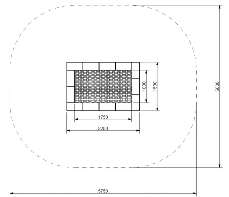 Plac zabaw Trampolina Orta 150 x 225 PLAY-PARK