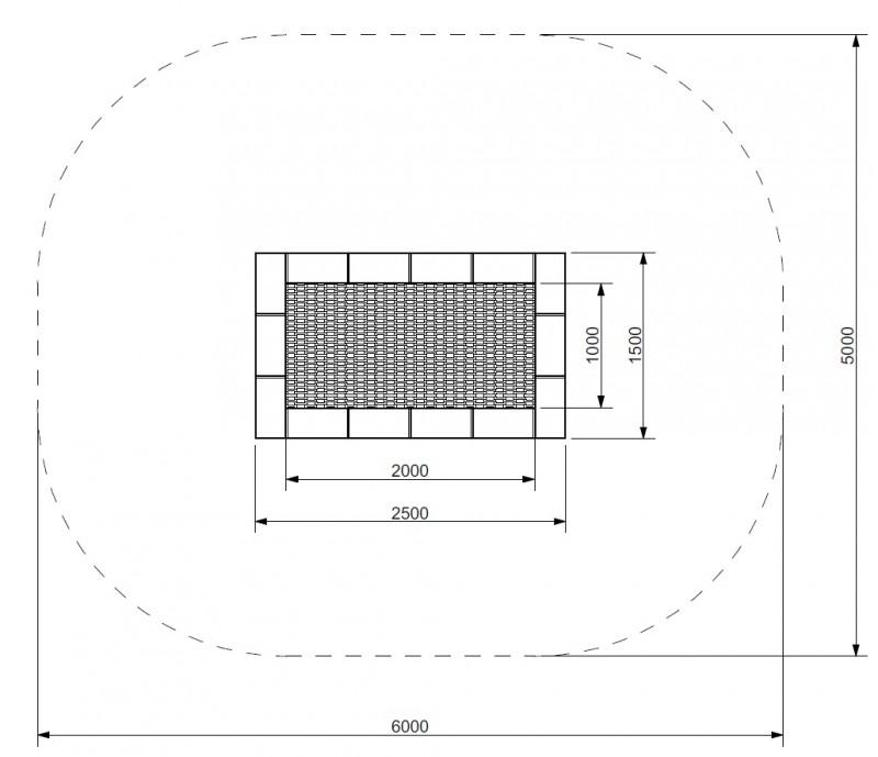 Plac zabaw Trampolina Orta 150 x 250 PLAY-PARK