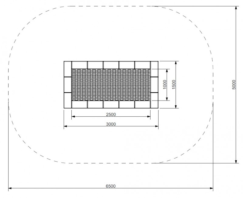 Plac zabaw Trampolina Orta 150 x 300 PLAY-PARK