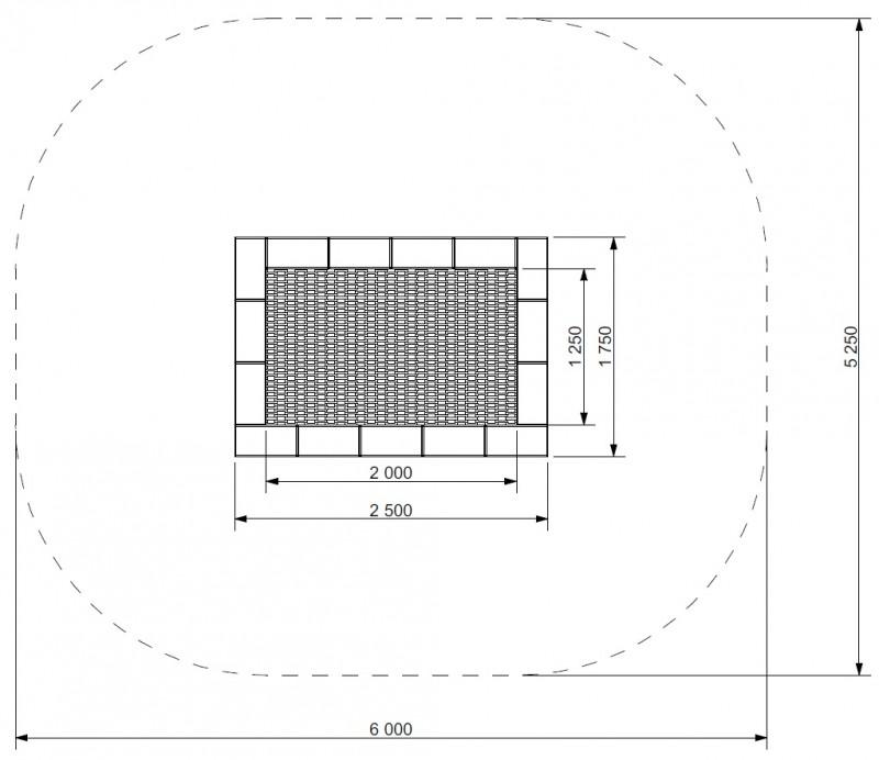 Plac zabaw Trampolina Orta 175 x 250 PLAY-PARK