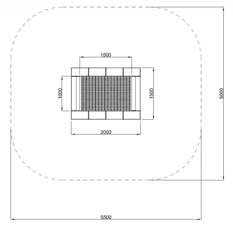 Plac zabaw Trampolina Orta-I 150 x 200 PLAY-PARK