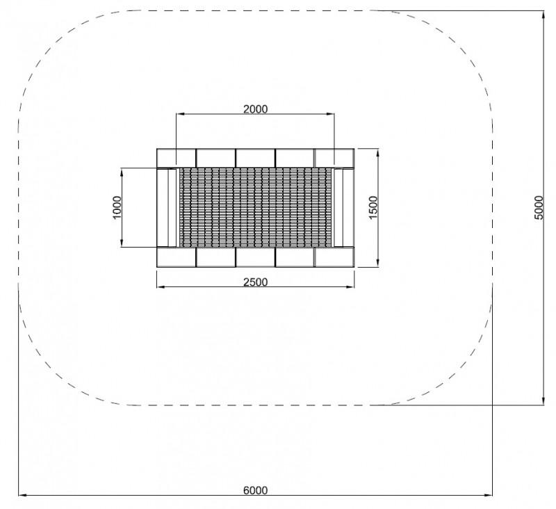 Plac zabaw Trampolina Orta-I 150 x 250 PLAY-PARK